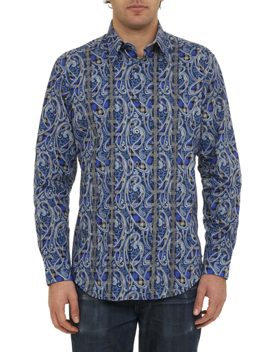 Robert Graham Hillstone Sport Shirt RF141010CF French Blue