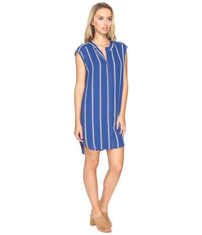 BB Dakota Zea Vertical Stripe Dress in Indigo BH18890