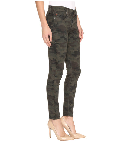 Hudson Women's Nico Midrise Ankle Super Skinny Jeans in Infantry Camo WMA407TEN
