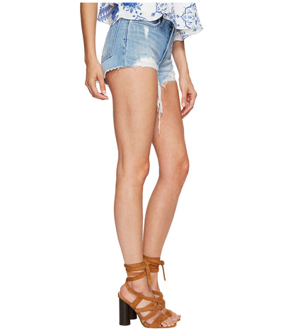 Lovers + Friends Jack High Rise Short in Nottingham Wash DMB0104168-S17