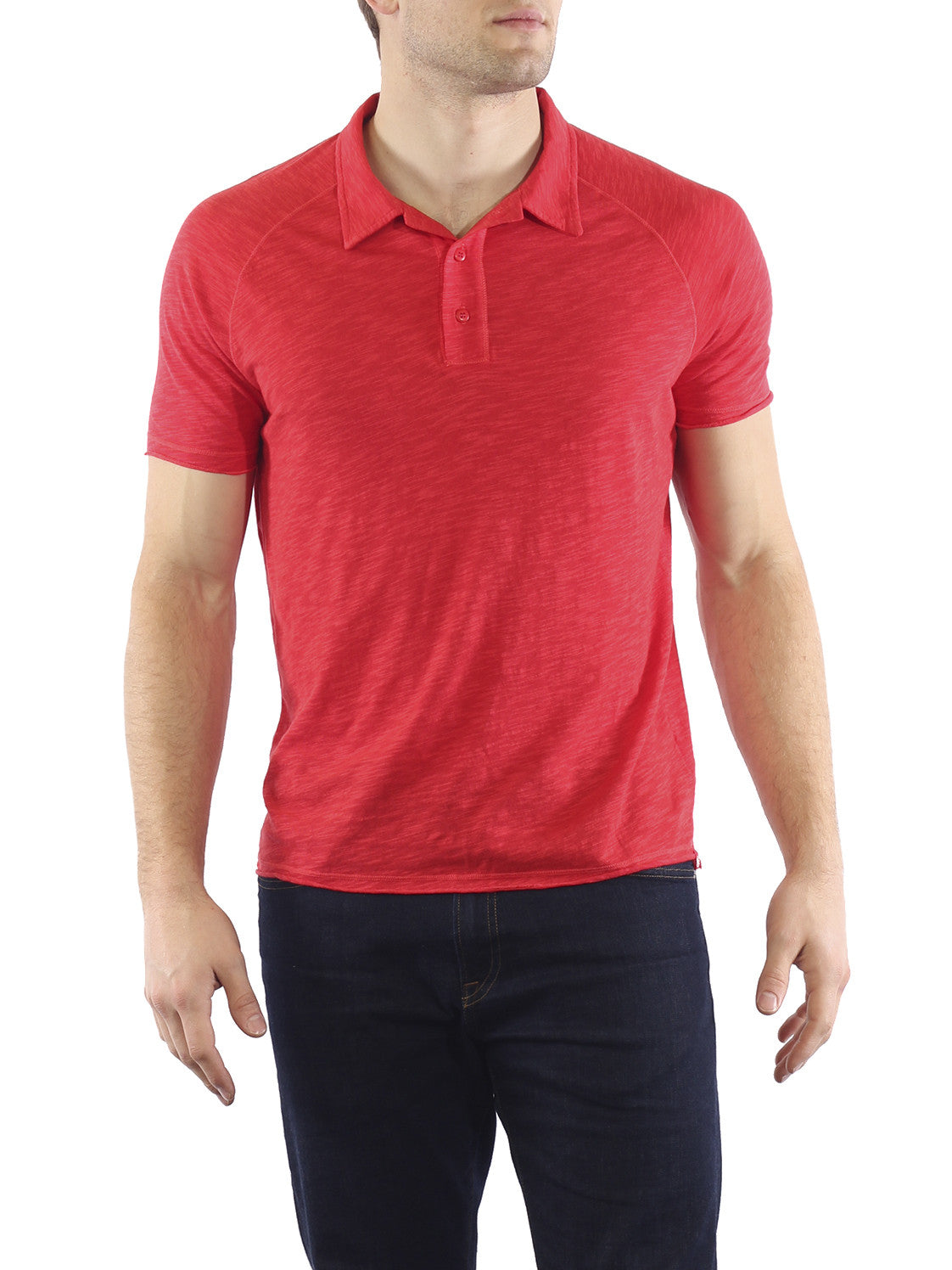 Agave Uluwatu Short Sleeve Polo K-1370, Rococco Red