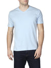 Agave Hanalei Bay Short Sleeve V-Neck T-Shirt K-1356, Cerulean