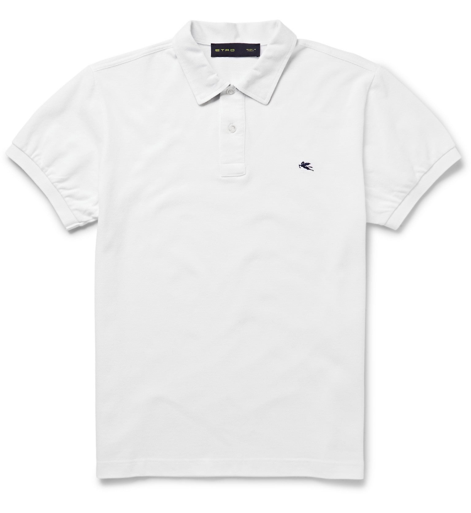 Etro Short Sleeve Polo, White