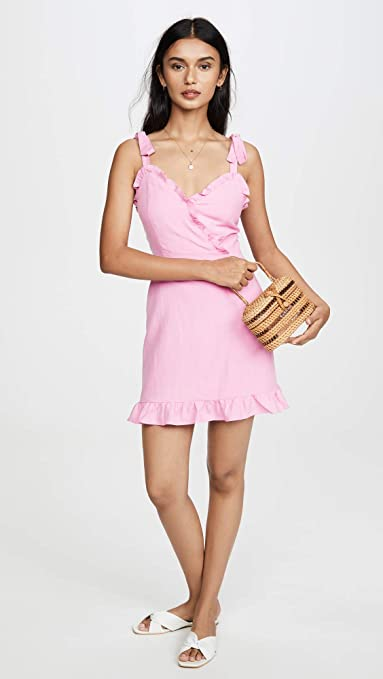 Lost + Wonder Guava Ruffle Mini Dress WDBA0794