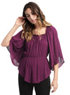 Ella Moss Katella Shirred Flutter Sleeve Top ET17189