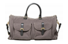 Hook + Albert Gray Canvas Weekender Garment Bag SC14-CBG