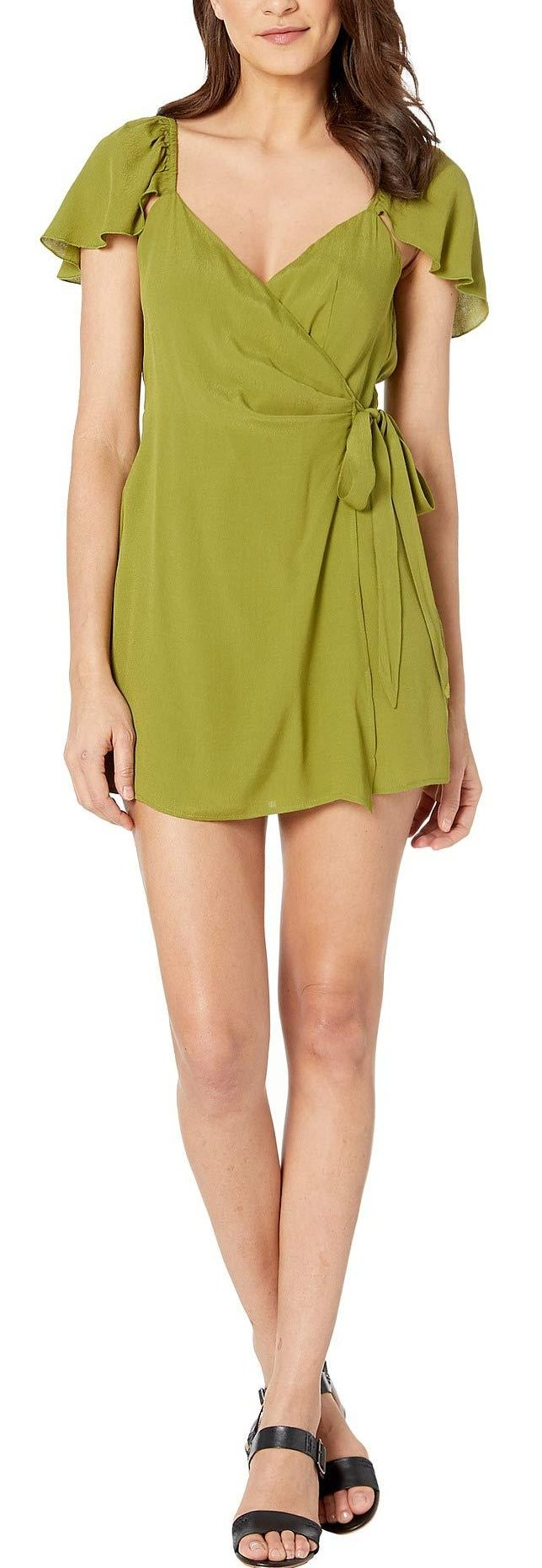 Show Me Your Mumu Elena Romper in Artichoke Crepe MS9-1854