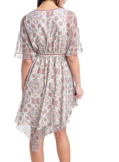 Ella Moss Wayfare Scarf Hem Dress in Natural ED18052