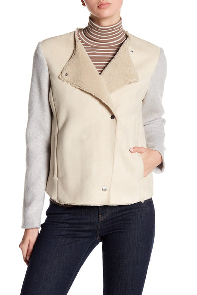 BB Dakota Glenna Sueded Jacket in Bone BH302331