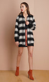 Greylin Francine Bomber Coat in Black 78J1212