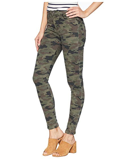 Hudson Barbara High Waist Super Skinny Pants in German Camo WH407TEN