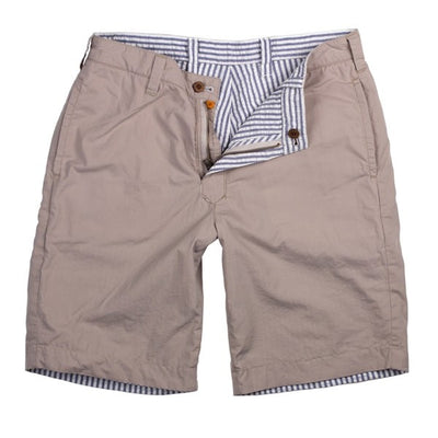 Tailor Vintage Reversible Short in Stone/Navy Seersucker CTT-5875