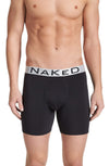 Naked Silver Microfiber Boxer Brief in Black MFSBB-B