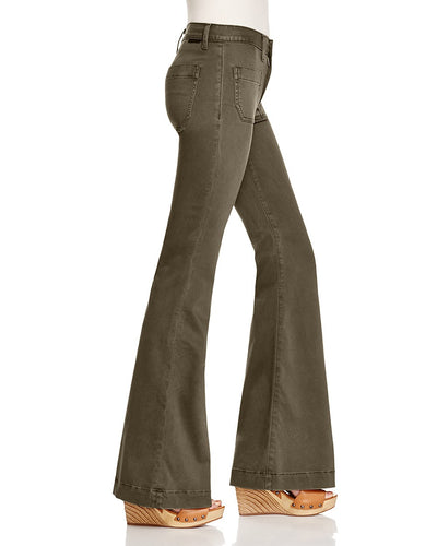 Hudson Taylor High Waisted Flare Pants in Fillmore Green WH527SAA