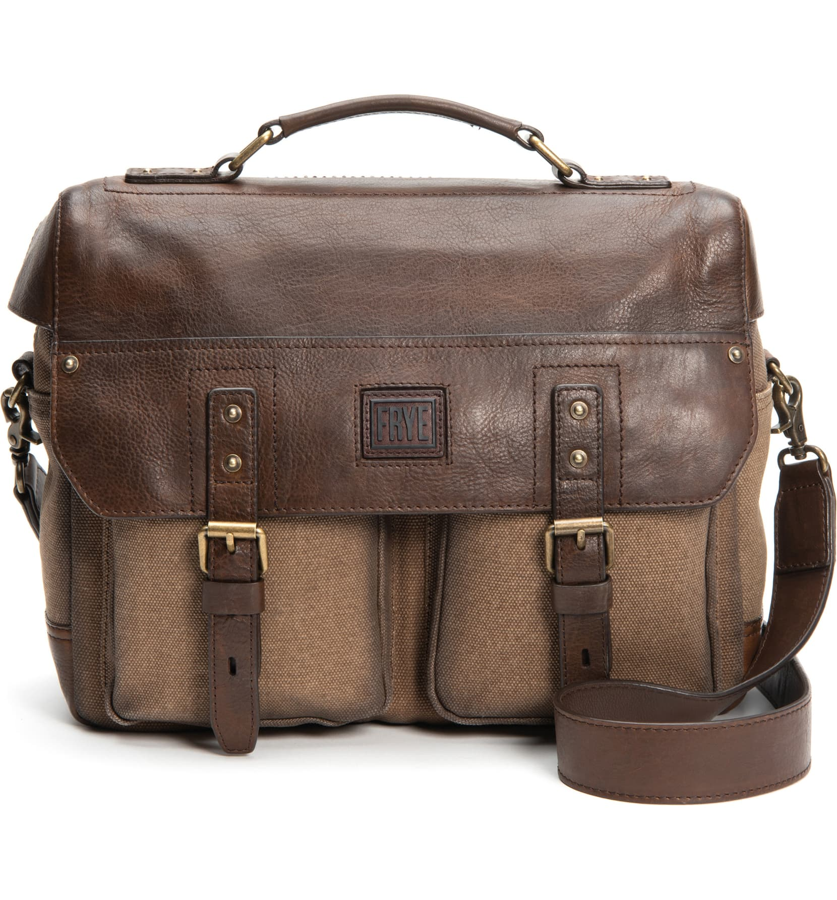 Frye Ethan Canvas & Leather Briefcase 34DB0682