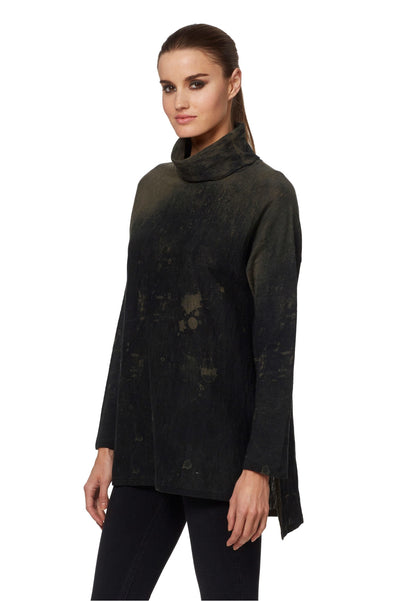 360 Cashmere Axl Turtleneck Tunic in Multi 90108