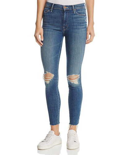 Mother Denim The Vamp Fray Skinny Jeans in Crazy Like a Fox Wash 1141-383