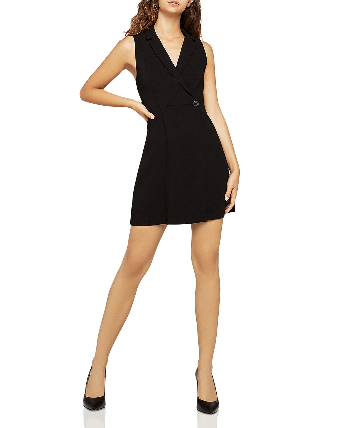 BCBGeneration Sleeveless Blazer Cocktail Dress GEF66P08
