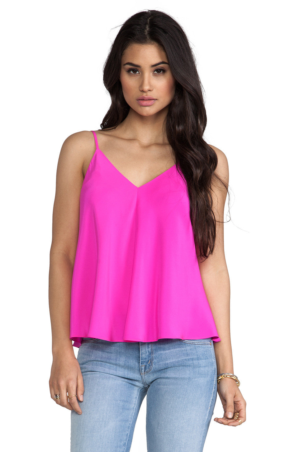 Amanda Uprichard Alana Top in Hot Pink CE-3151