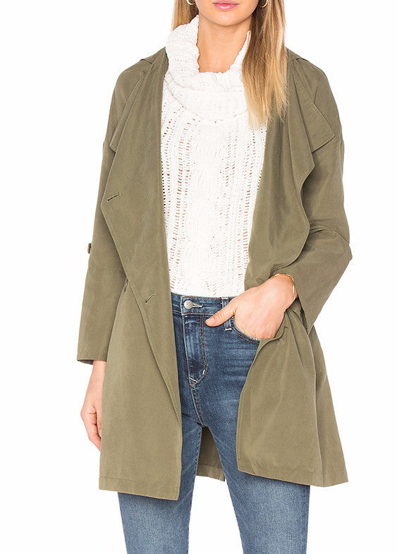 BB Dakota Delancy Coat in Sage BH10059
