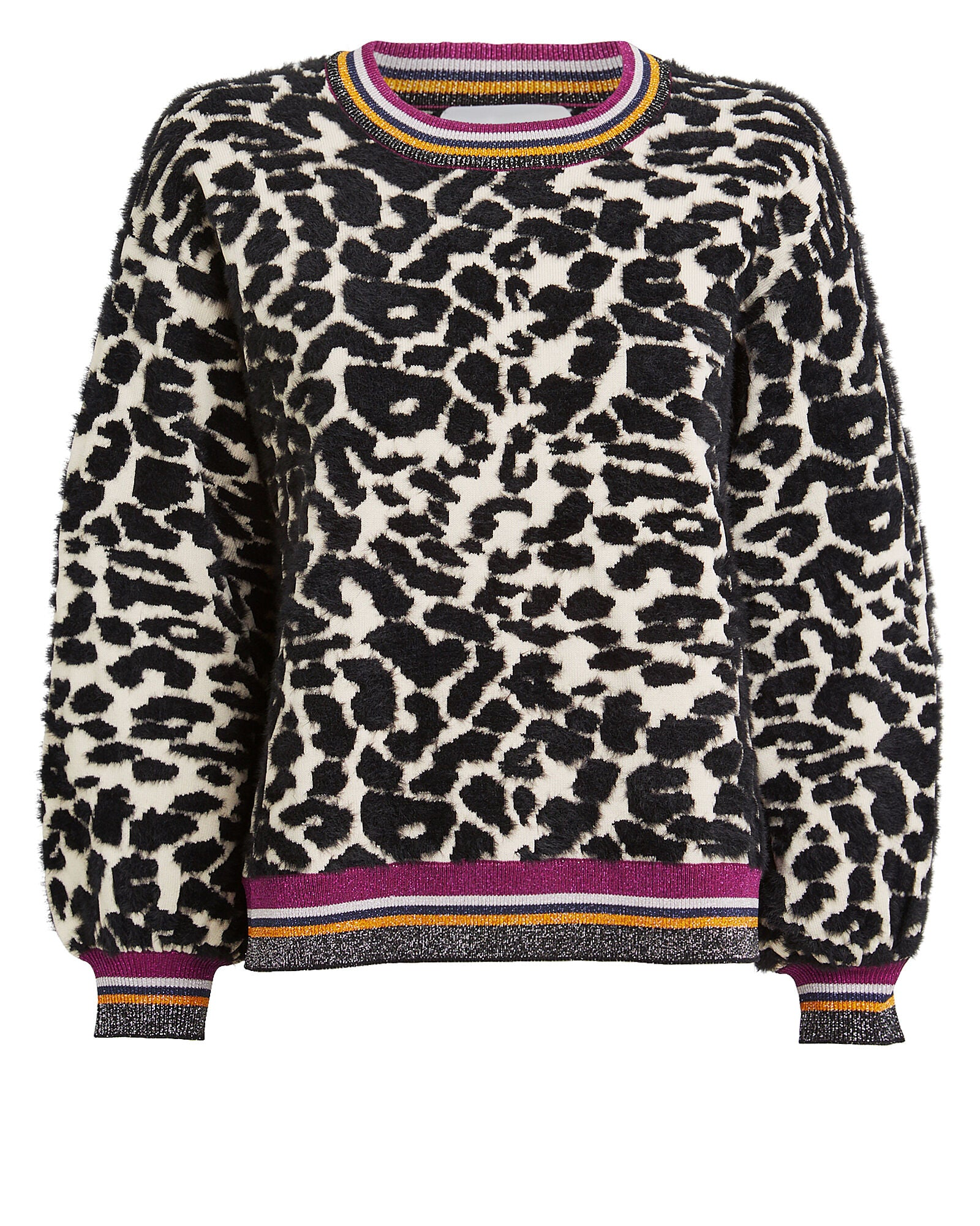 Saylor Leopard Ballon Slv Sweater Bette