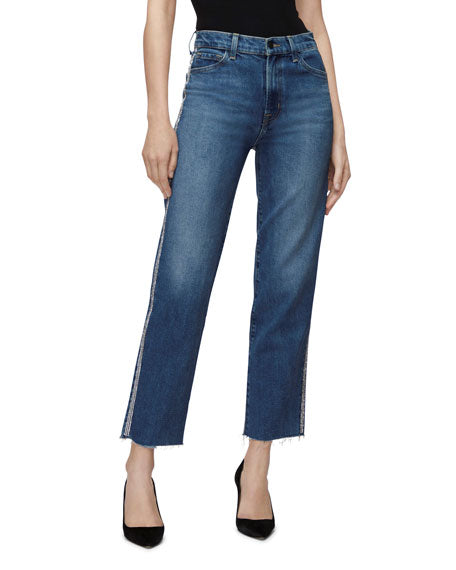 J Brand Jules High Rise Straight Leg Jean Ubanite JB002483