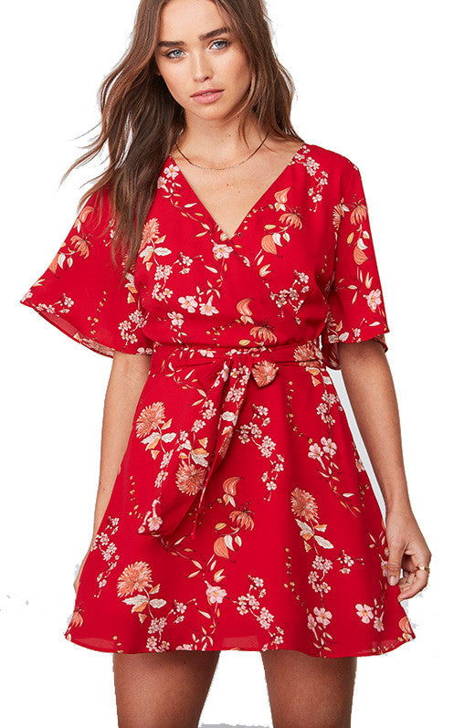 BB Dakota Laselle Dress in Red BH18888