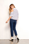 BB Dakota Jagger Striped Blouse in French Blue BI104985