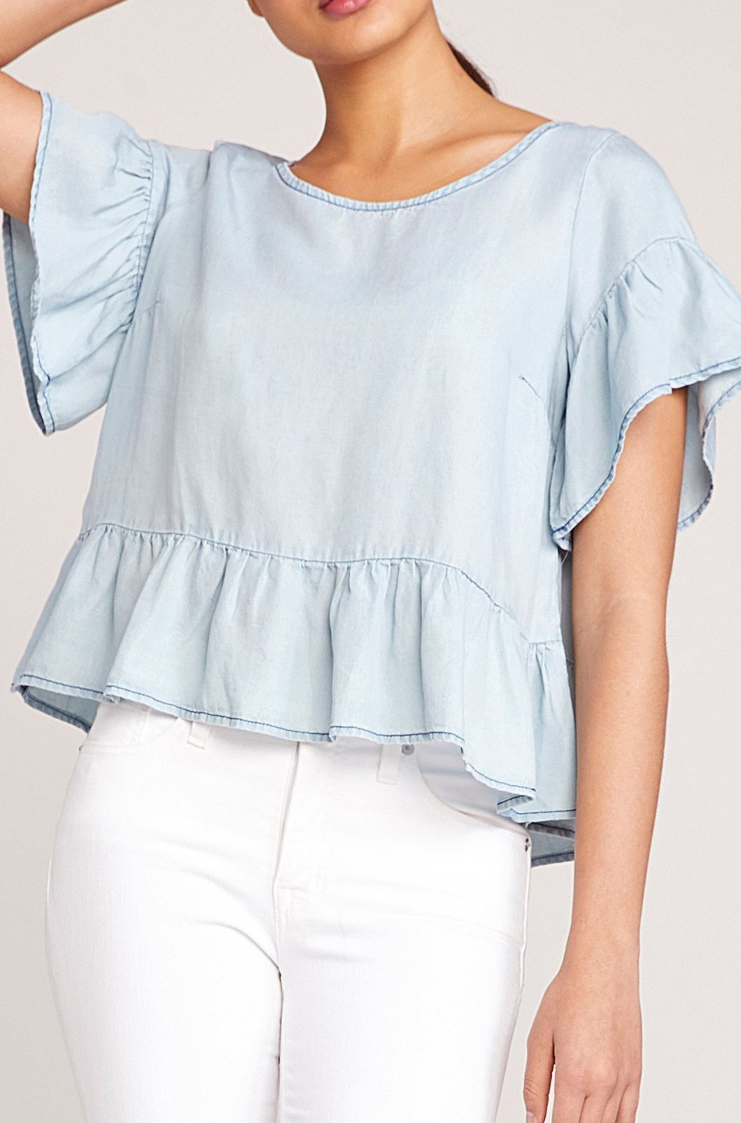 BB Dakota Ruffle & Ready Top in Indigo BJ104240