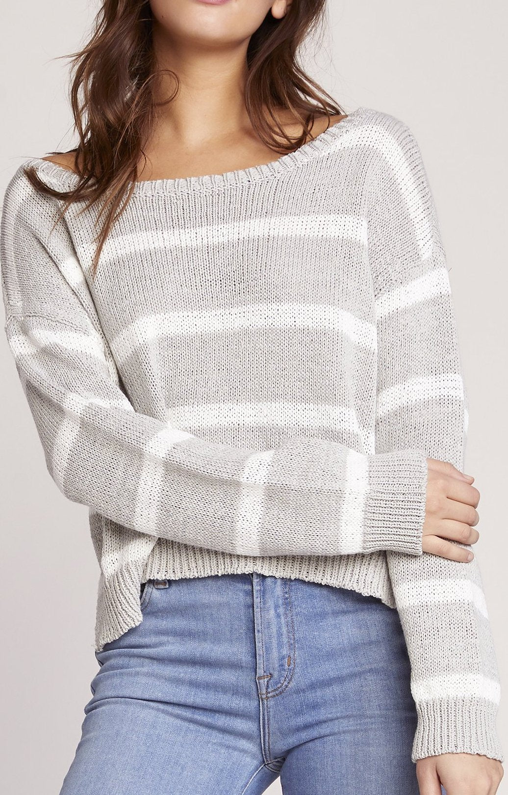 BB Dakota Sail Away Sweater in Stone Grey BJ106525