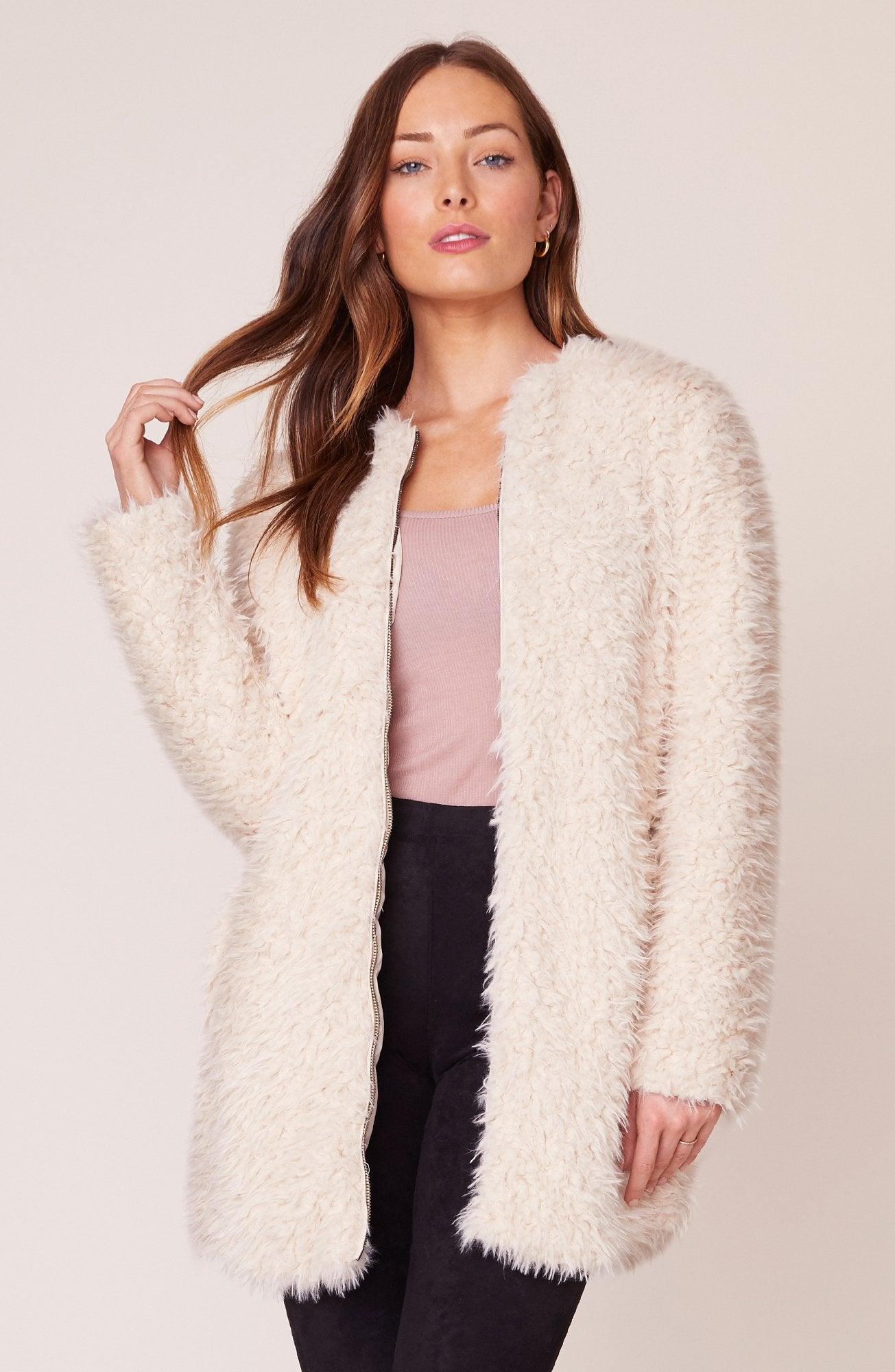 BB Dakota Soft Spot Faux Fur Coat  Tan BJ300255