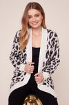 BB Dakota Feline Myself Leopard Cardigan Ivory BJ306643