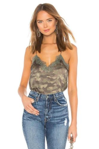 CAMI The Racer Charmeuse Top