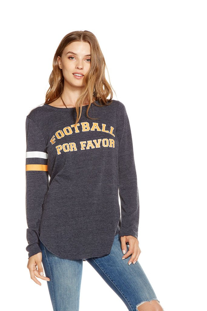 Chaser Brand Football Please L/s Tee CW6215CP-CHA2631