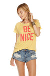 Chaser Brand Be Nice Cold Shoulder Tee CW6520-CHA2051