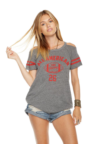 Chaser Brand All American Cold Shoulder Tee CW6714CP-CHA2050