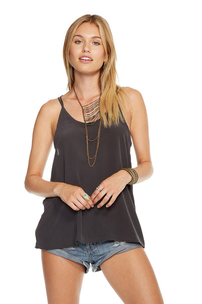 Chaser Brand Silk Strappy Scoop Neck Cami CW6726