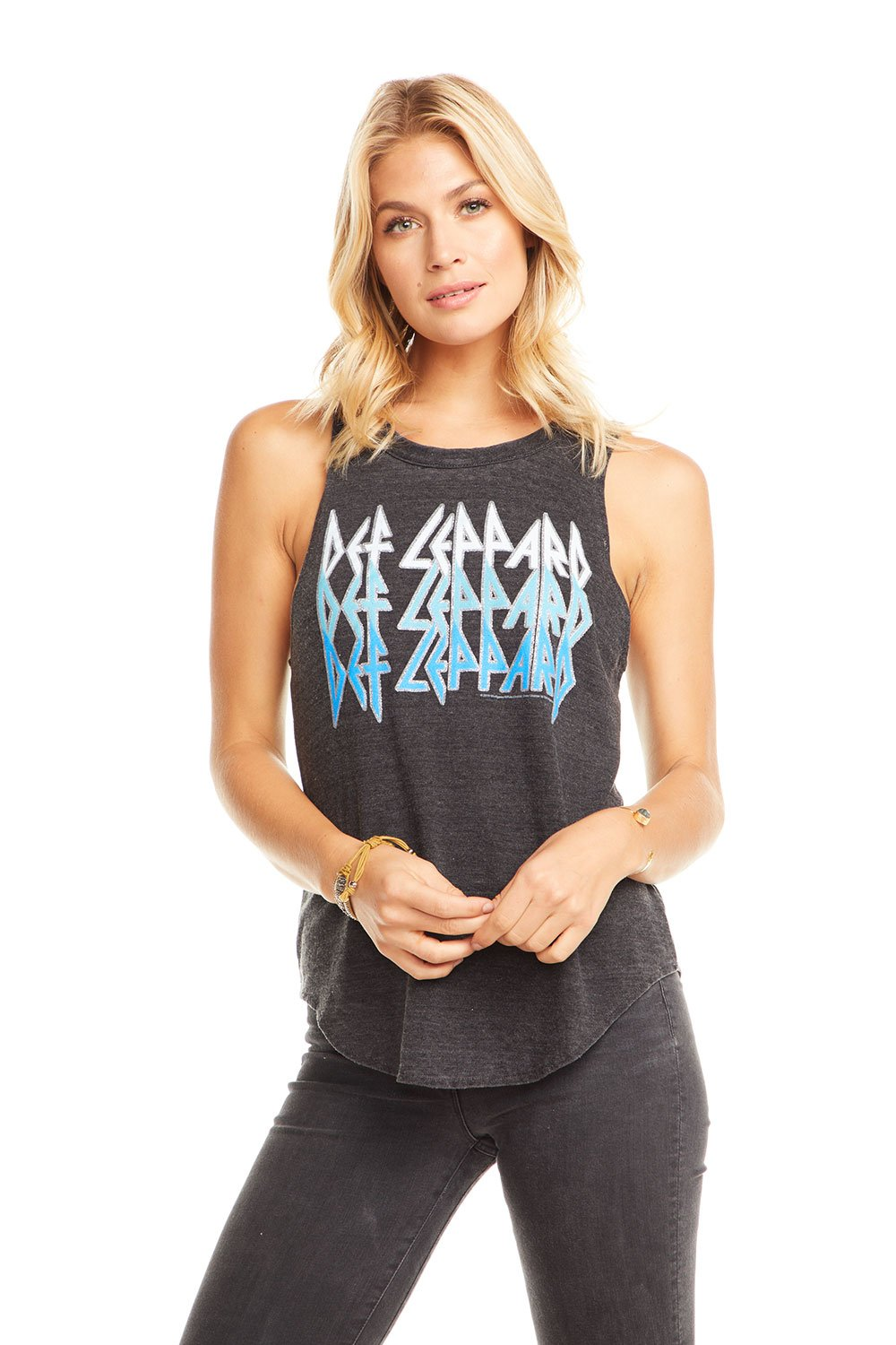 Chaser Brand Def Leppard - Leppard Blue Muscle Tank CW6839-DEF049