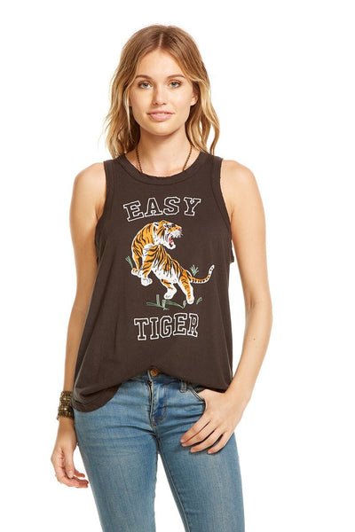 Chaser Brand Easy Tiger Tank in Vintage Black CW6905-CHA2315