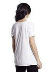 good hYOUman 'Pets Are People Too' Coco SS Scoop Neck Tee in Salt 103111P
