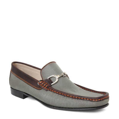Donald Pliner Darrin King Leather Khaki Mesh Slip On Loafer