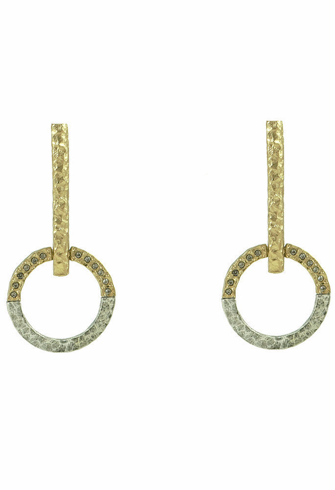 Tat2 Gold Rin Fupu Earrings 26258 E141-GLD/VS-BD