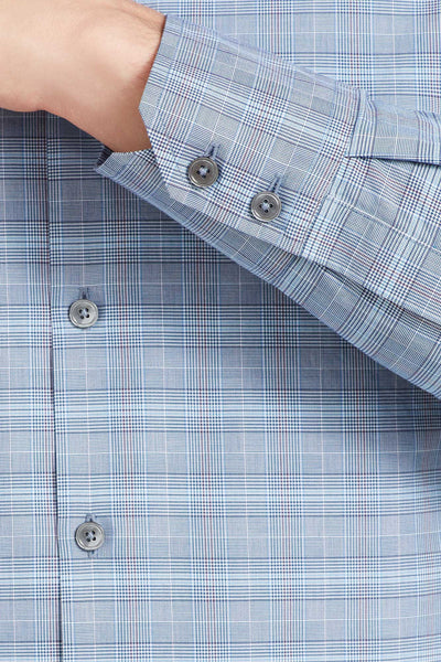 Zachary Prell Winters Button Down Shirt in Light Blue F61063ML