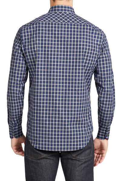 Zachary Prell Albert Check Button Down Shirt in Navy F61065PL