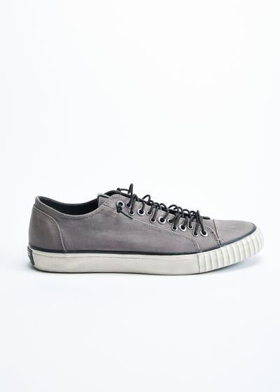 John Varvatos Coated Denim Multilace Low Top Sneaker Graphite FB0008V2-A824B