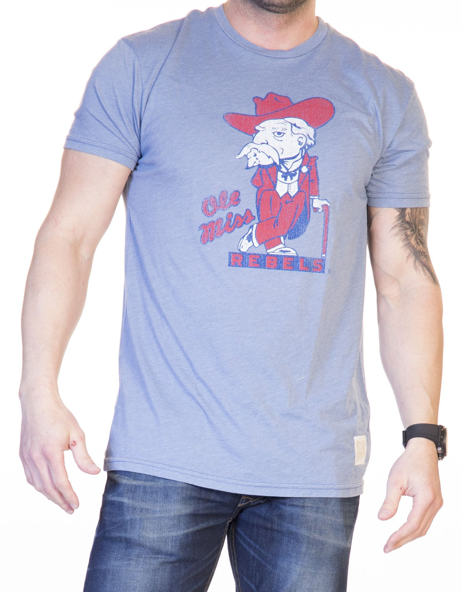 Retro Brand Ole Miss Colonel Reb Tee RB130 COLE200A