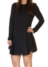 Blaque Label Artsilk Long Sleeve Dress in Black BQD913