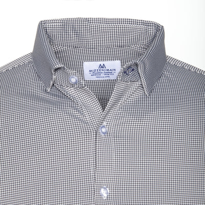 Mizzen + Main Davenport Black Gingham Spread Collar Dress Shirt MM-5800