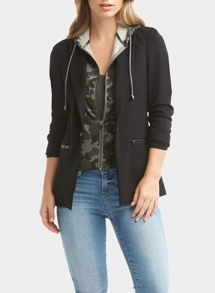 Tart Collections Savi Blazer Black With Heather Camp T90715 N1472