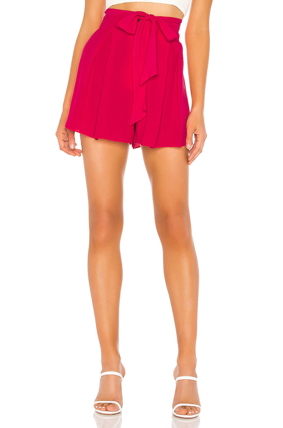 JOA Pleated Shorts With Waist Tie BC8650